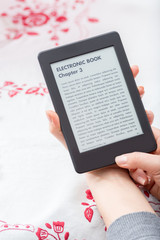 Ebook reader with copy space