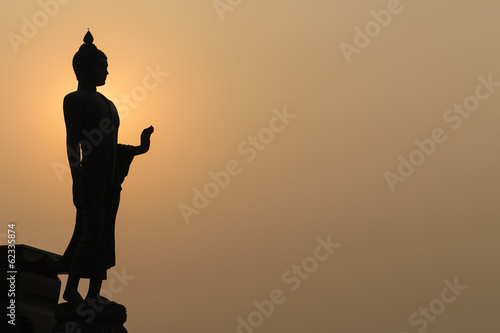 Silhouette of a Thai Buddha