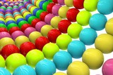 Abstract background from balls