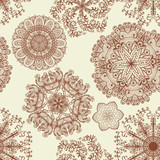 Seamless elegant pattern with hand drawn flowers