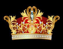 Av kungliga guldkrona med juveler
