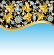illustrations background frame with jewels of ornaments