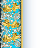 vertical background frame with jewels of ornaments