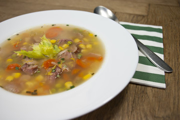smoked broth soup