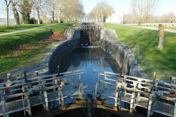 Canal du Midi, écluse