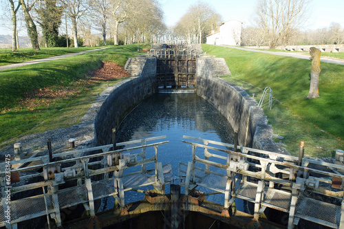 Deurstickers Kanaal Canal du Midi, écluse