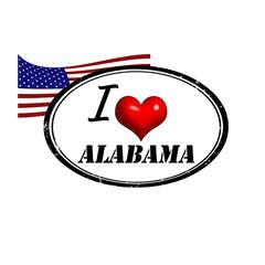 Alabama stamp