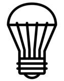LED light bulb vector icon