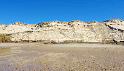 érosion du cordon dunaire suite aux tempêtes hivernales