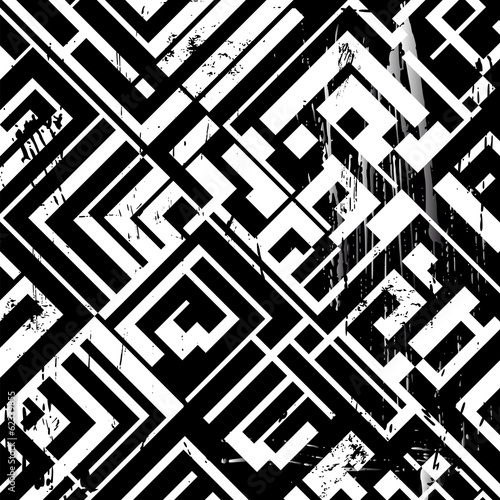 abstract geometric background, with strokes and splashes, black