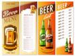 beer menu and beer list