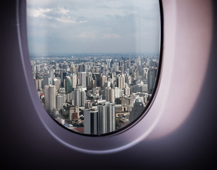 beautiful city view from the window