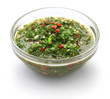 chimichurri sauce, traditional Argentine condiment
