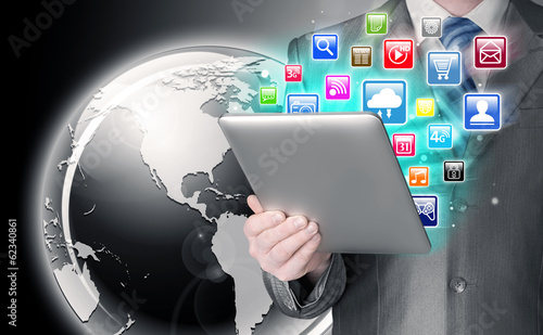 Business man use tablet pc