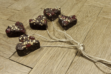 Brownies hearts