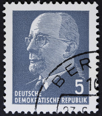 Vintage postage stamp printed in Germany .