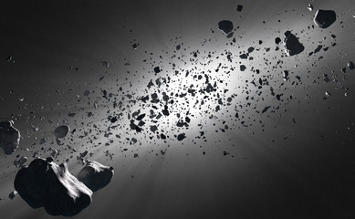 Inside the Asteroid Belt against the sun