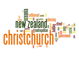 Christchurch word cloud