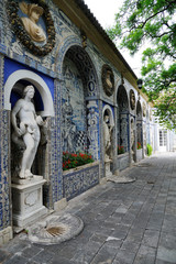 Statue du palais de Fronteira à Lisbonne