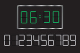 digital clock. Set your time.