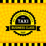 Fototapety Taxi symbol with checkered background - 21
