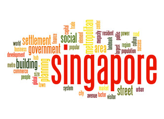 Singapore word cloud