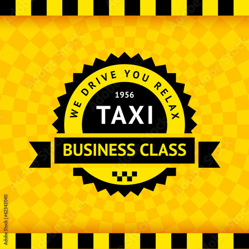Taxi symbol with checkered background - 21