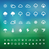 Retina weather icon set
