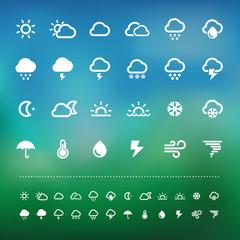 Retina weather icon set
