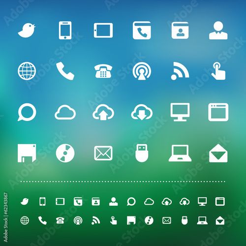 Retina communication icon set