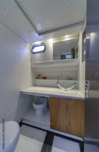 Italy, Fiumicino (Rome), 50' luxury yacht, bathroom
