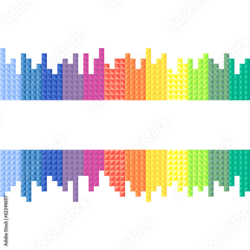 Rainbow, background, vector illustration