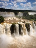 View of Iguazu falls between Brazil and Argentina