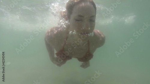 fitness girl underwater
