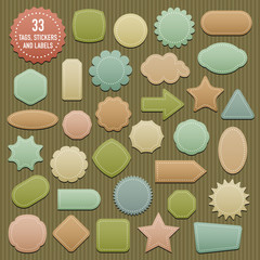 Tags, Stickers and Labels in pastel colors