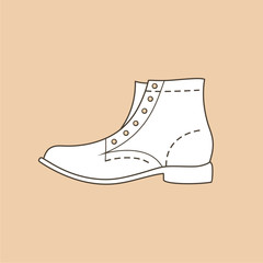 High shoe illustration