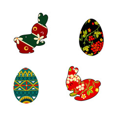 Rabbit and Easter eggs, folklore