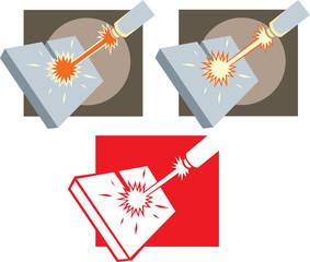 Laser cutter icon