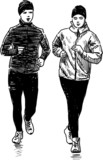 jogging people