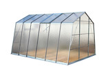 Modern greenhouse isolated on a white background.
