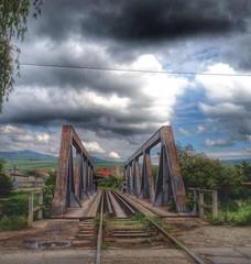 Bahnbrücke in Rumänien