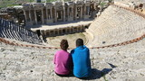couple watching 3rd century BC Ancient Hierapolis