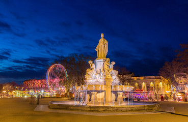 Fontaine Pradier in Nimes - France, Languedoc-Roussillon