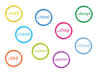 Illustration on the new internet domain extensions