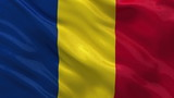 Flag of Romania waving in the wind - seamless loop
