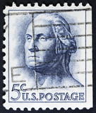 Former president of the usa on Postage stamp.