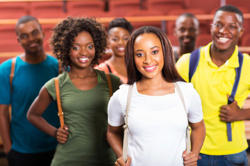 group of young afro american students