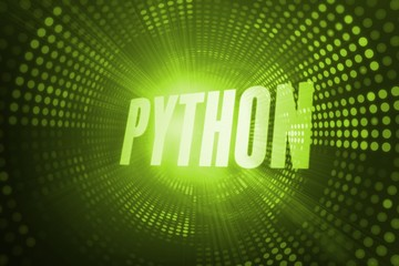 Python against green pixel spiral