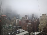 fog rolls over nyc