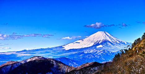 丹沢山地から見る富士山